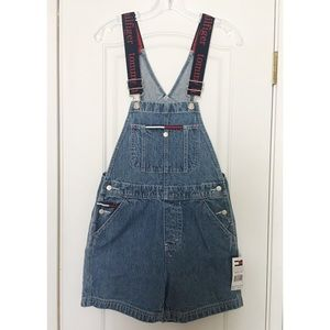 """90's Tommy Hilfiger """"Tommy Girl"""" Overall Shorts"""